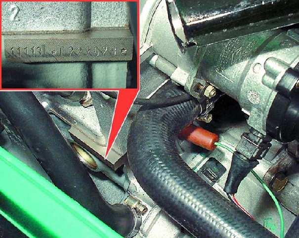 Номер двигателя приора где находится фото